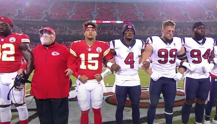 Chiefs and Texans show of unity