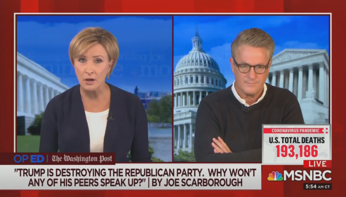 Mika Brzezinski Joe Scarborough Morning Joe 9-11-20
