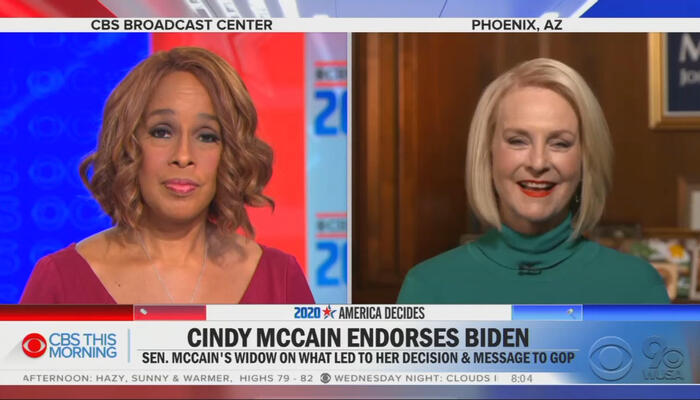 Gayle King and Cindy McCain