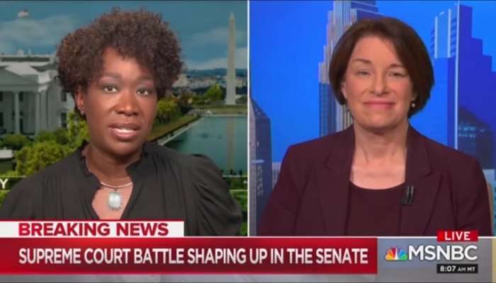 Joy Reid Amy Klobuchar MSNBC AM Joy 9-19-20
