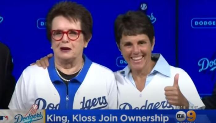 Billie Jean King, left, and her partner Ilana Kloss