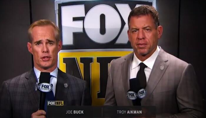 Joe Buck, left, Troy Aikman