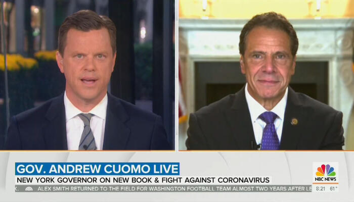 Willie Geist and Andrew Cuomo