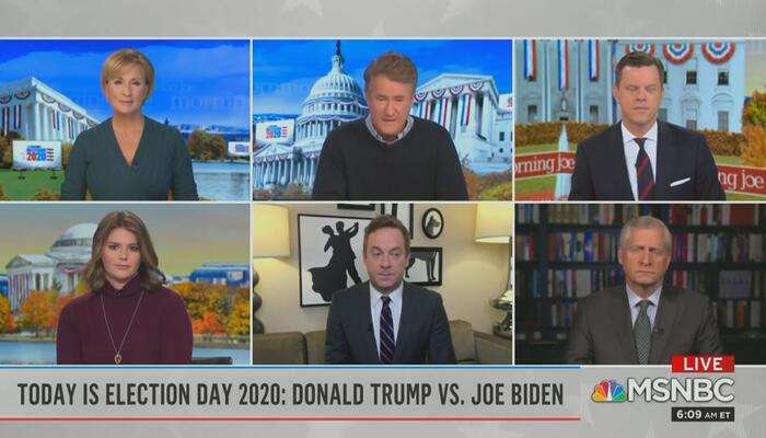 Mika Brzezinski Joe Scarborough Willie Geist Kasie Hunt Jonathan Lemire Jon Meacham Morning Joe 11-3-20