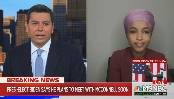 Ayman Mohyeldin and Ilhan Omar