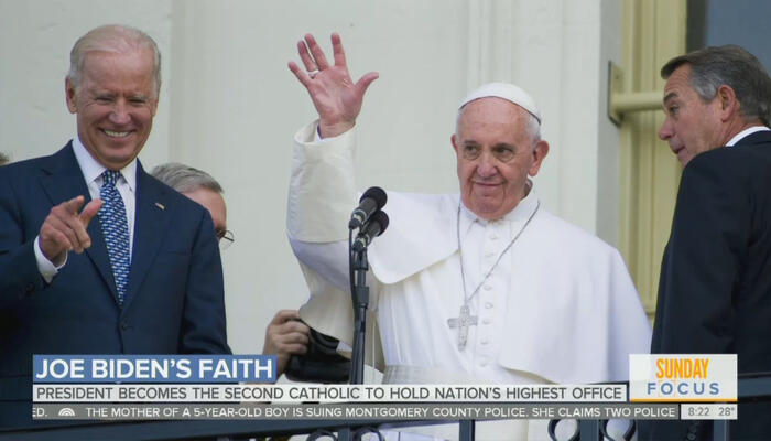 Joe Biden and Pope Francis