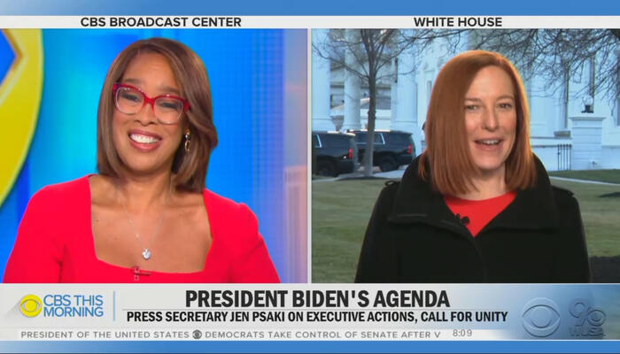Gayle King and Jen Psaki
