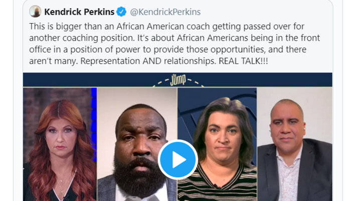 Kendrick Perkins/LeBron James tweets