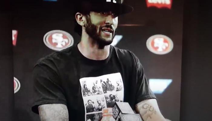 Colin Kaepernick in Castro shirt