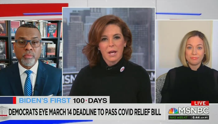 Stephanie Ruhle and Eddie Glaude