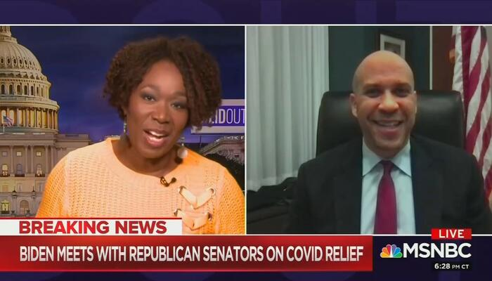 Joy Reid and Cory Booker