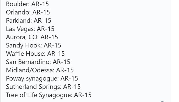AR-15 tweet