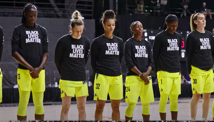 WNBA players featured in More Than A Vote video