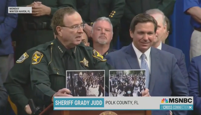 Polk County Florida Sheriff Grady Judd MSNBC The Cross Connection 4-24-21